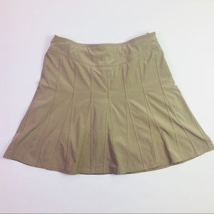 Athleta Wear About Skort Khaki/Tan Size 8